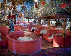 Madonna Inn - Gold Rush Steakhouse, at Christmas time.