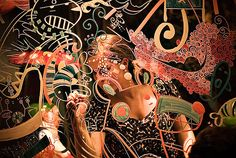 Laura Osorno + Leo Espinosa by sicoactiva locos por los marcadores!!! pueden hacer lo mismo en las ventanas de sus piezas!!