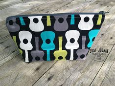 Available on @etsy Guitar Zippered Pouch Makeup/Toiletry Bag - Handy Travel Storage - Ready to Ship Perfect for Travel and Everyday Organization by JustJoshinCreations #etsyfinds #etsy #handmade