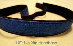 DIY workout headband. Really will stay put! I know, because I have a few. I am going to make these for my soccer family. ~K