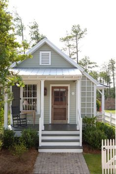 The Pendleton Road tiny house's 493 square feet are filled with charm from top to bottom.