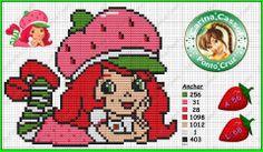 Strawberry Shortcake perler bead pattern by Carina Cassol