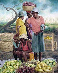 Florestal Esdras ! Barbados, Jamaican Art, Human Figure Sketches, Haitian Art, African Paintings, Renaissance Artists, Caribbean Art, Black Art Pictures, Black Love Art