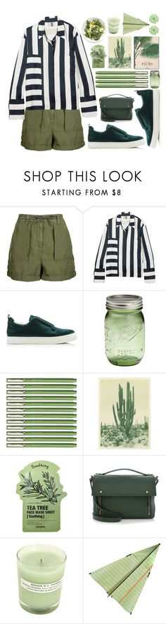 """Green"" by unicornonthecobb ❤ liked on Polyvore featuring Topshop, Topshop Unique, Taschen, Tony Moly, 3.1 Phillip Lim, A.P.C., WALL and unicornonthecobb"