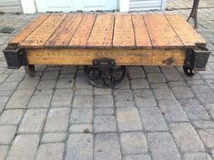 Items similar to Industrial Cart Coffee Table Caster Set on Etsy Table, Painted Coffee Tables, Table Casters, Industrial Coffee Table, Cart Coffee Table, Coffee Table With Casters, Furniture Wheels, Country Farmhouse Furniture, Coffee Table