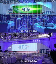 ATG lansman sahne dekor tasarımı ATG event stage design
