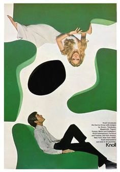 Herbert Matter.1946-1966. Knoll Advertisment. Herbert Matter was a Swiss-born American photographer and graphic designer known for his pioneering use of photomontage in commercial art. The designer's innovative and experimental work helped shape the vocabulary of 20th-century graphic design.