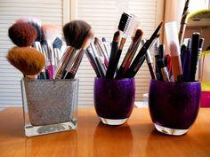 Porta-brochas con purpurina