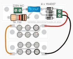 Vista pictórica del sistema de leds con 220V modular