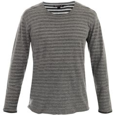 John Varvatos * Usa Reversible striped sweater ($59) found on Polyvore