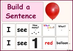 Build a Sentence -Autism and Special Needs. For more autism and special needs resources follow https://www.pinterest.com/angelajuvic/autism-special-education-resources-angie-s-tpt-sto/