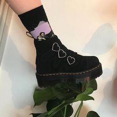 Love Bites Boots shoes aesthetics boots grunge boogzel Source by boogzel Shoes Sock Shoes, Cute Shoes, Me Too Shoes, Shoe Boots, Grunge Outfits, Grunge Fashion, Grunge Shoes, Pastel Goth Shoes, Arty Fashion