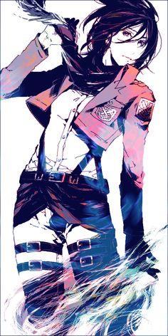 Tags: Anime, Shingeki no Kyojin, Mikasa Ackerman, 15000 (Artist)
