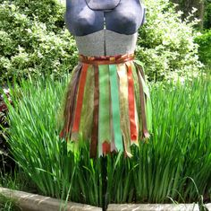 Rust Ribbon Tutu  Green Autumn Colors  by PlaynwithScraps, $17.00
