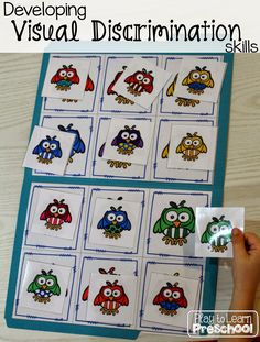 Tips for developing Visual Discrimination skills with young children from Play to Learn Preschool