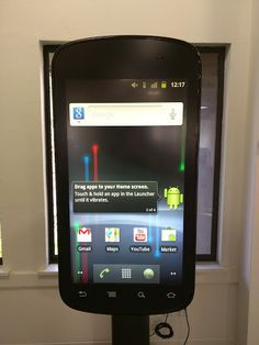 Giant Nexus phone back from when Google first came out with the Nexus S (I believe)