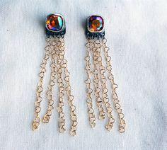 Handmade Vintage Pink Swarovski Crystal by RachelPfefferDesigns, $122.00