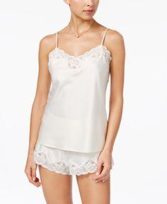 fa3f2db682542 Lauren Ralph Lauren Satin Camisole and Shorts Pajama Set - Ivory XL Pajama  Shorts, National