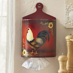 Red Rooster Plastic Bag Holder #LGLimitlessDesign #Contest