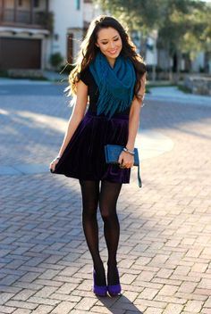 Hapa Time Jessica Ricks sexy dress with sheer black pantyhose and heels Black Opaque Tights, Black Pantyhose, Nylons, Hapa Time, Jessica Ricks, Pantyhose Outfits, Fashion Tights, Velvet Skirt, Sexy Legs