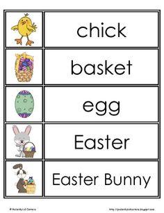 Easter Activities, Spring Activities, Holiday Activities, Literacy Activities, Kindergarten Language Arts, Kindergarten Literacy, Montessori Elementary, Preschool Word Walls, Free Preschool