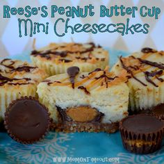 Mom On Timeout: Reese's Peanut Butter Cup Mini Cheesecakes {Recipe}