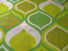 lemon & lime vintage fabric - have to find this