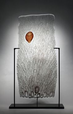 "Steven Tippin , 'Anemia' - Fused Glass on Metal Stand, 25"" x 14.5"" x 4"", 2013"
