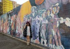 La Carmina - cute outfit post featuring a little white MIFFY dress!    Enjoy this colorful photo diary of my downtown Phoenix, Arizona art walk (^__^).    Which mural is your favorite? Isn't the Westin hotel gorgeous?    http://www.lacarmina.com/blog/2013/01/downtown-phoenix-roosevelt-row-art-galleries-murals-arizona-cultural-arts-district/     fashion blogger white dress, outfit of the day, fashion blogger, asian fashion bloggers, asia fashion blog, tokyo street style, kawaii girl