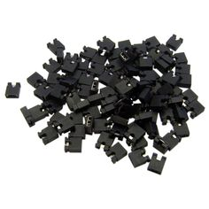 2000pcs Pin Header Jumper blocks Connector 2.54 mm for 3 1/2 Hard Disk Drive, CD/DVD Drive, Motherboard and/or Expansion Card