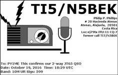 eQSL From TI5/N5BEK
