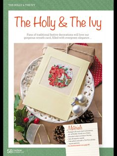 The Holly & The Ivy by Susan Penny CrossStitcher  Issue 299 December 2015 Zinio Saved
