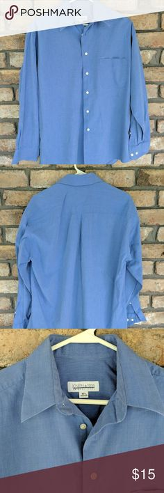 Joseph & Feiss Dress Shirt - NEW LISTING Blue button down dress shirt.... in good used condition...only thing I see is a slight wearing of collar points!! Joseph & Feiss Shirts Dress Shirts