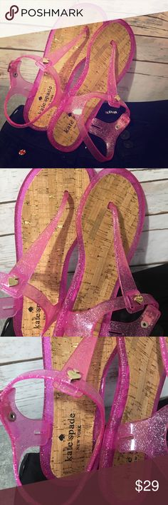NWOT Kate Spade Pink Glitter Jelly Sandals Sz 6 Super cute Glitter Jelly Sandals by Kate Spade New York! NWOT Sz 6 kate spade Shoes Sandals