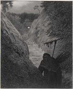 """Theodor Kittelsen """"Svartedauden"""" (The black death) - P_10.09.2012 - http://ndla.no/sites/default/files/images/lav_NG.K%26H.1982.0021.hovedspalte.jpg"""