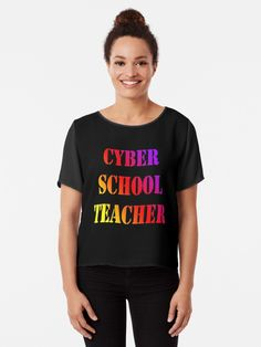 Cyber school virtual teacher 2020. Back to school Gift idea 2020. Cyber style. • Millions of unique designs by independent artists. Find your thing. Robert Pattinson, Boutique, Design Quotes, Tee Design, Cool Shirts, Funny Shirts, Chiffon Tops, Classic T Shirts, Fitness Models