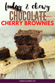 The sweetness of cherries brings a new level of flavor in these chocolate cherry brownies. Cherry and chocolate are a match made in heaven! #easychocolatecherrybrownies #chocolatecherrybrownies #chewybrownies #homemadebrownies