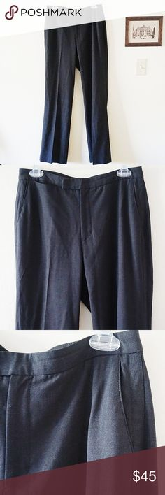 Banana Republic Stretch Wool Work Pants Banana Republic Stretch Wool Work Pants. Size 6. Great condition. No rips or stains. Has nice stretchy material even though its mostly wool. Hardly worn. A lighter black shade.  Rise 9.5in Inseam 32in Waist flatlay 15in Oz 1lb  Offers Welcome Ships in 1-3 days Bundle for a Discount Banana Republic Pants Trousers