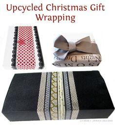 Upcycled Christmas Gift Wrapping