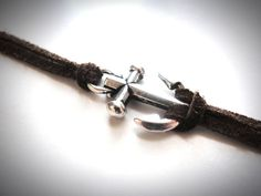 Silvery Pewter Hope Anchor bracelet by JewelryByMaeBee on Etsy.