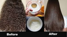 Permanent Hair Straightening at Home in 30 Minutes  with all Natural Ing...
