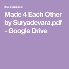 Made 4 Each Other by Suryadevara. Free Novels, Free Pdf Books, Main Menu, Google Drive, Telugu