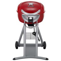 char-broil patio bistro electric grill in red