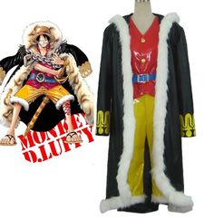 Vicwin-One One Piece Monkey·D·Luffy Captain Cosplay Costume -- Want to know more, click on the image.