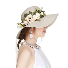 9ae7cd9f192 Shop the latest collection of Kajeer Floppy Fascinator Tea Party Hats  Flowers Straw Hat Women from the most popular stores - all in one place.