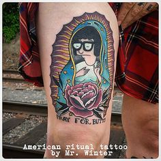 Thanks to @sharkley And his badass wife. And bob's burgers.  Virgin Tina by Mr Winter at American Ritual Tattoo and Wunderkammer Curiosity Shoppe Tacoma Wa