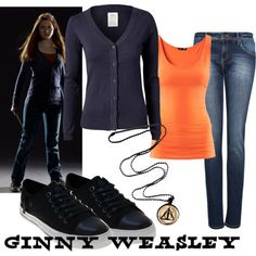 Character: Ginny Weasley Fandom: Harry Potter Film: Deathly Hallows, Part II Buy it here! Harry Potter Kostüm, Harry Potter Dress, Harry Potter Outfits, Ginny Weasley, Hermione Granger, Harry Potter Kleidung, Harry Styles, Casual Outfits, Cute Outfits