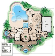 plan 66231we southern influenced plantation estate luxury house