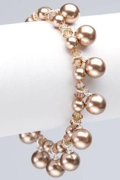 Perle e bicono Swarovski...lucentezza