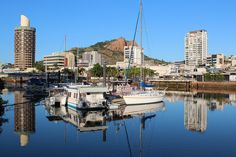 Townsville City with Castle Hill